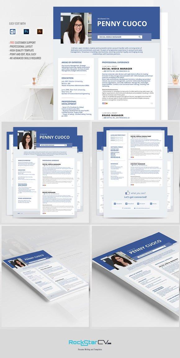 Facebook Timeline Resume Template Resume Templates Creative Market - Timeline resume template