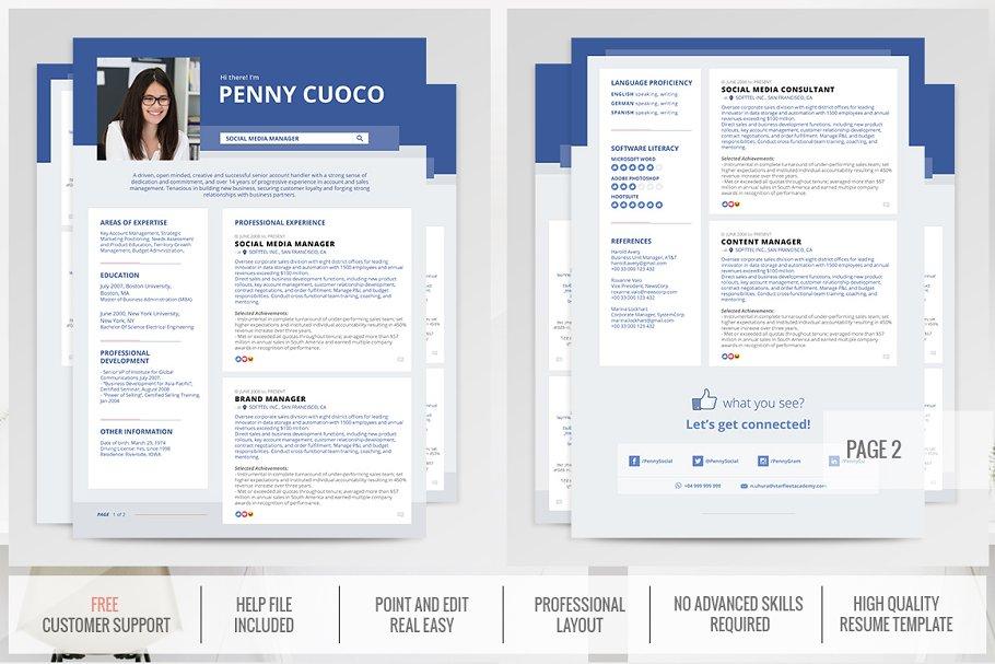 facebook timeline resume template  creative resume