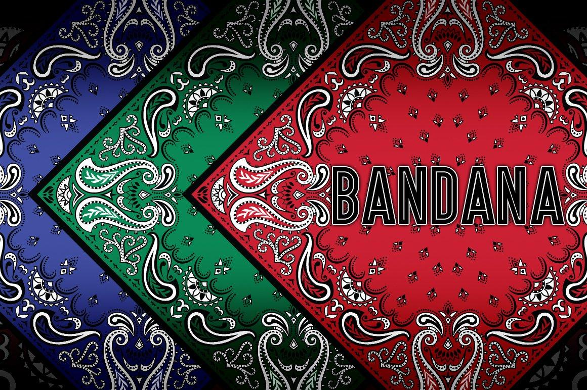 bandana vector decorative pattern graphic patterns creative market