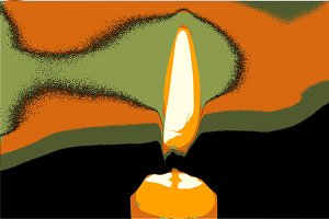 Illustration of burning candle