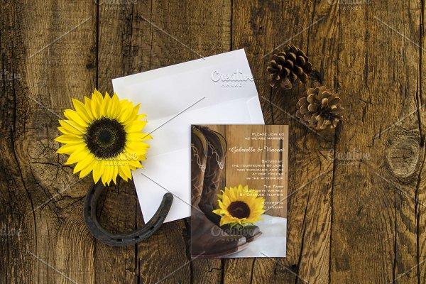 Rustic Sunflower Mockup Bundle