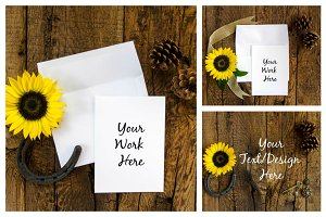 Rustic Sunflower Mockup Bundle