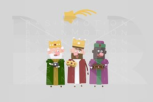 3d ilustration. 3 Magic Kings
