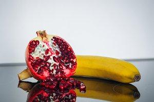 Vitamin boom - banana, pomegranate