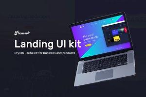 80% sale. Picasso Landing UI Kit
