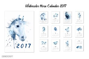 2017 Calendar Watercolor Horse