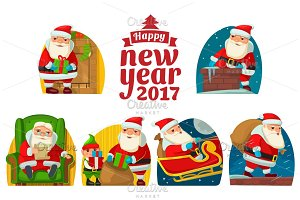 Set Santa Claus and elf
