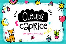 Clouds Caprice Typeface with Extras