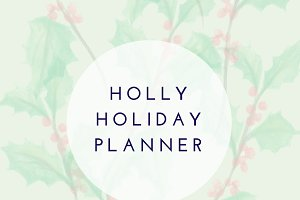 Holly Holiday Planner