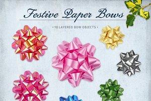 Festive Paper Bows