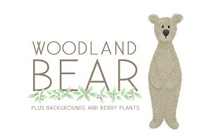 Woodland Bear with Berries and More