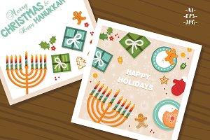 Christmas and Hanukkah cards