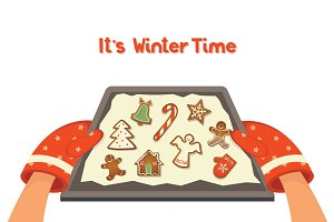 SALE -50% Gingerbread tray
