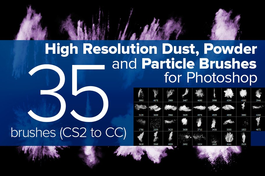 Dust, Powder and Particle Brushes ~ Photoshop Add-Ons ~ Creative Market