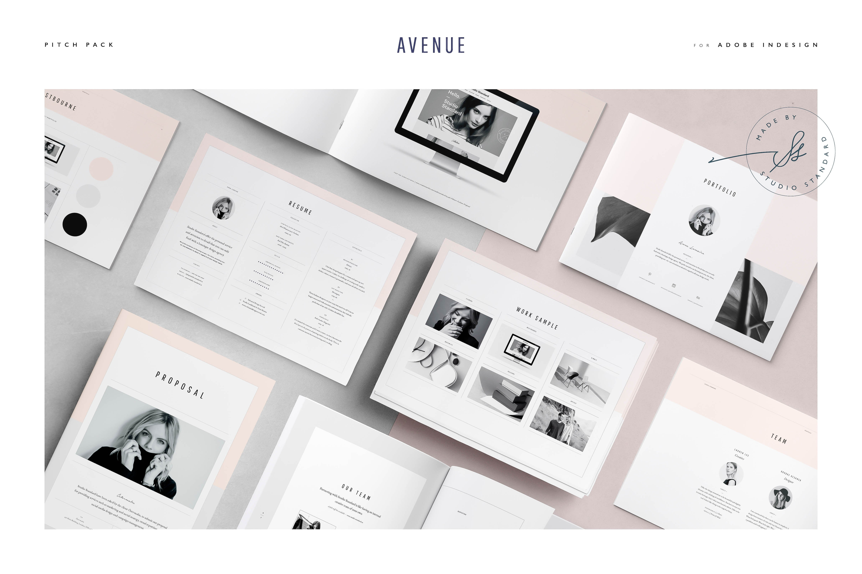avenue pitch pack brochure templates creative market