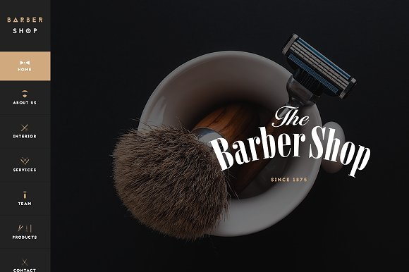 Barbershop One Page Template
