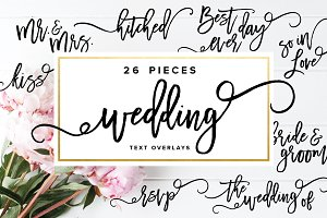 Wedding Text Overlays