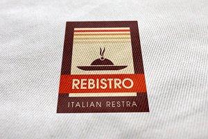 Rebistro Restaurant Logo Template