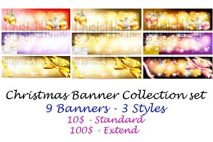 Christmas and sales banner set pack!