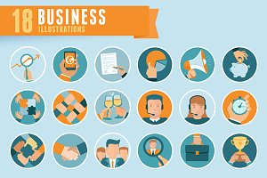 18 business illustrations