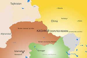 Kashmir region map