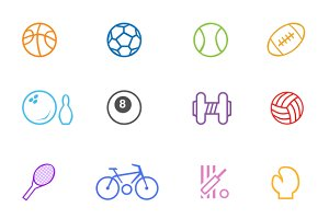 Sports & Game Line Icons