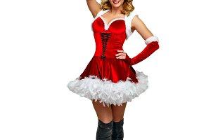 Girl and Christmas bells