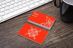 Set of cards with arabic pattern