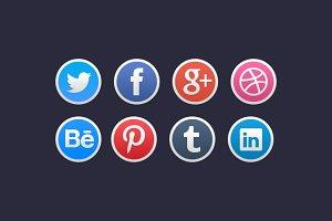 Stylish Social Media Icons