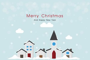 Merry Christmas City Greeting Card