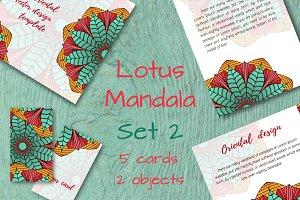 Lotus Mandala. Set 2