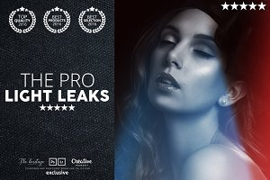 Pro LIGHT LEAKS 95 Photoshop Bundle