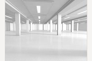 Empty parking 3D rendering