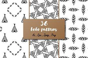 36 Boho patterns