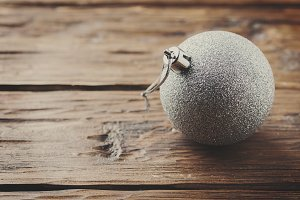Silver ball for christmas
