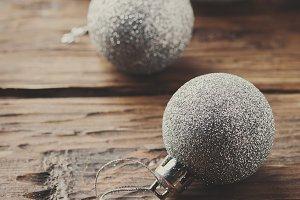 Silver balls for christmas