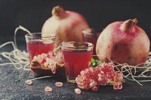 Sweet pomegranate juice