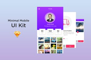 SW Minimal Mobile UI Kit
