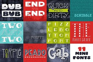 Mini Font Bundle