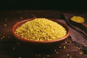 Bulgur in a bowl