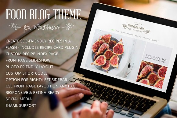 Food blog modern wordpress theme wordpress blog themes food blog modern wordpress theme blog forumfinder Choice Image