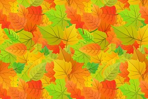 Cute autumn leaves pattern