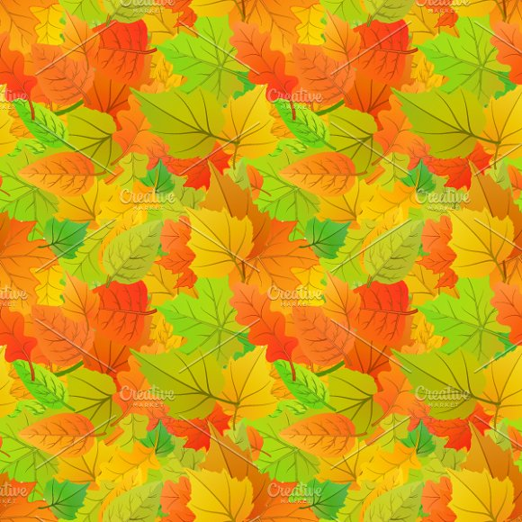cute autumn leaves pattern graphic patterns creative market