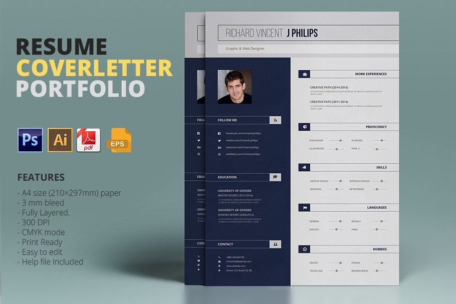 Resume Template ~ Resume Templates ~ Creative Market
