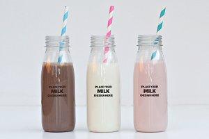 Milk Bottle Mock-up Pack#1