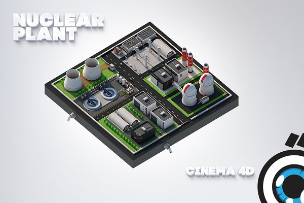3D Architecture: Graphicshop - Nuclear plant station
