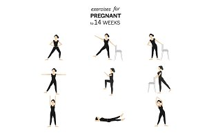 Exercises for pregnant to 14 weeks
