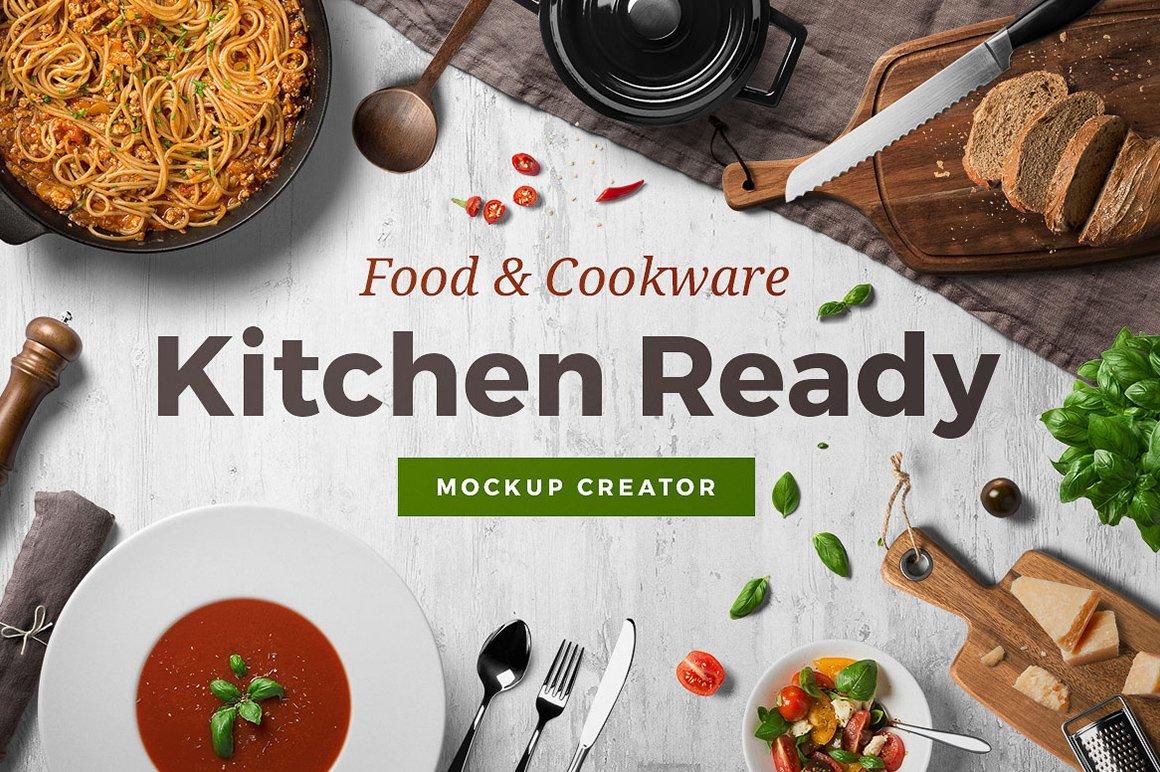 Kitchen ready mockup creator product mockups creative market forumfinder Gallery