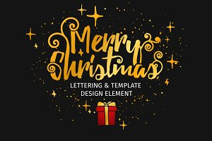 Set design template Christmas card