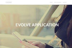 Evolve  - Mobile App Landing Page